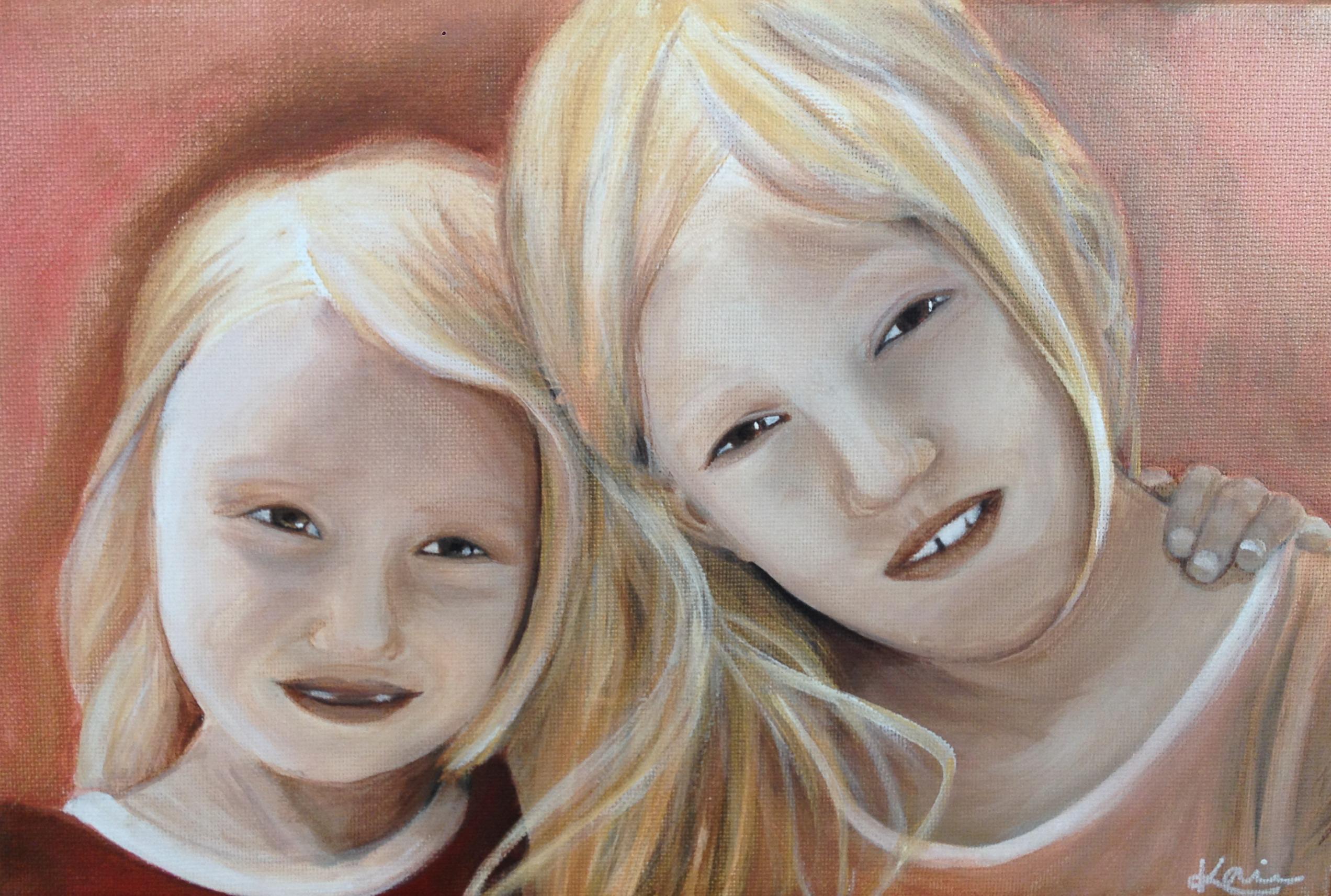 Porträtt syskon