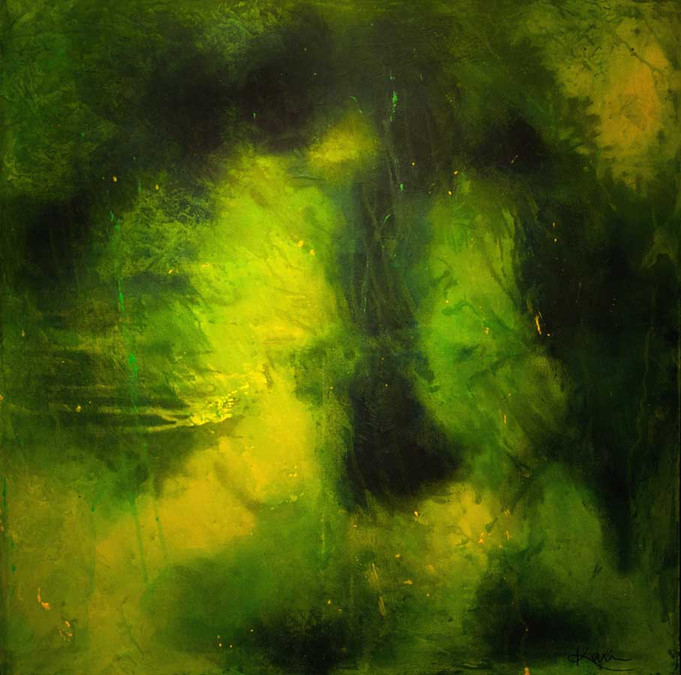 Karin Bergdahl, Faces, 80x80, akryl, 200