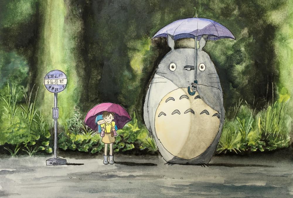 Karin Bergdahl, Totoro - väntan i regn v