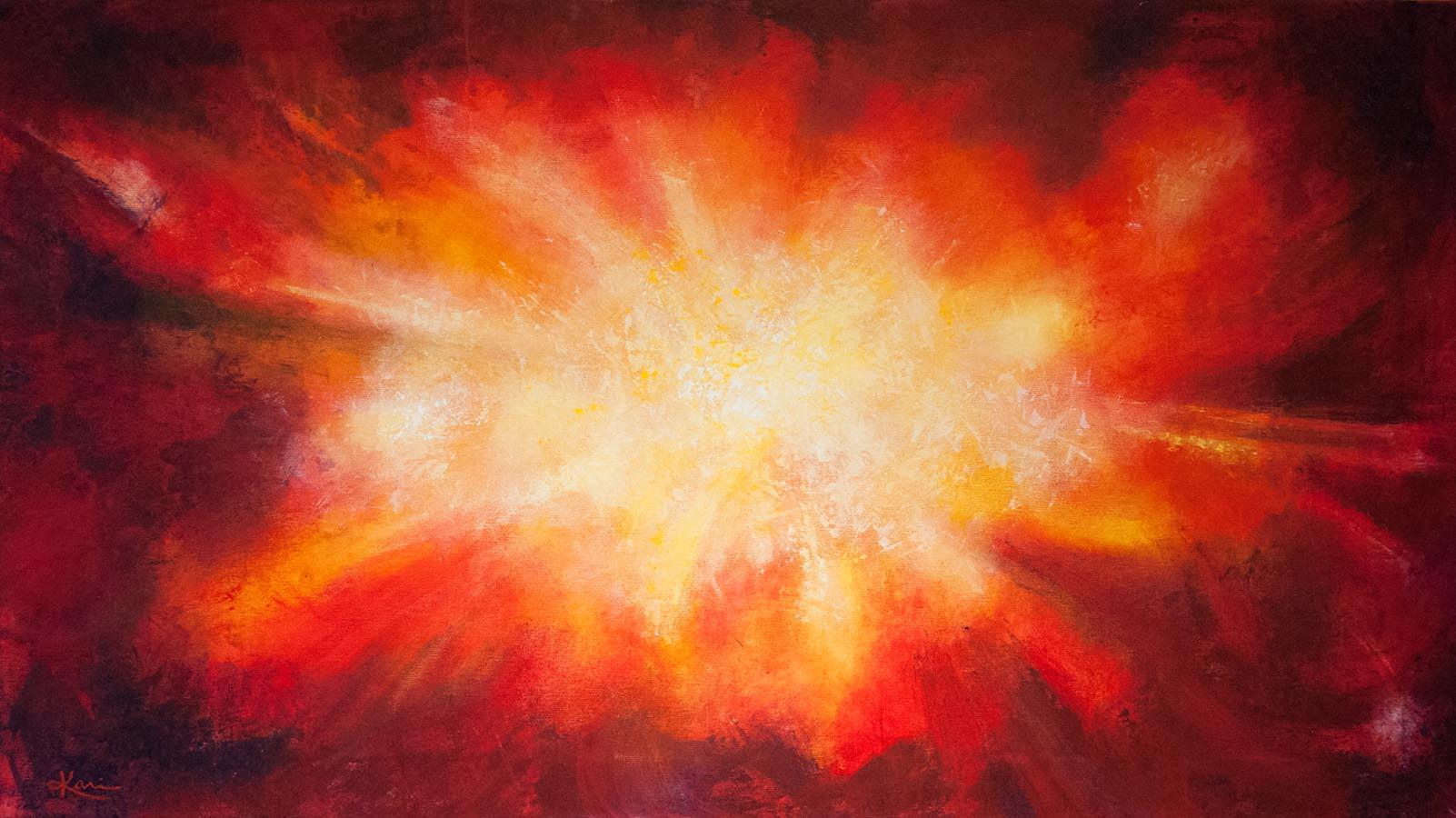 Karin Bergdahl, Explosion, 60x100, akryl