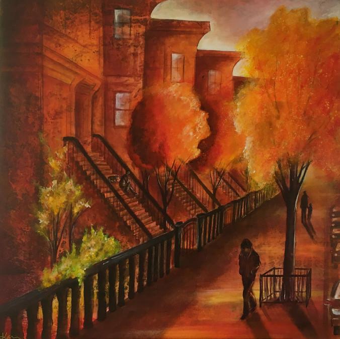 Karin Bergdahl, Brooklyn Heights, 80x80,