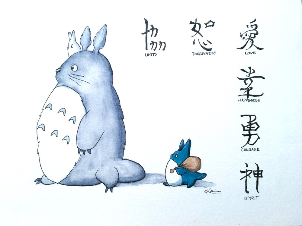 Karin Bergdahl, Totoro - japanska tecken