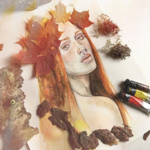 """""""Fall"""", an original faerie forest artwork by Haltija Art"""