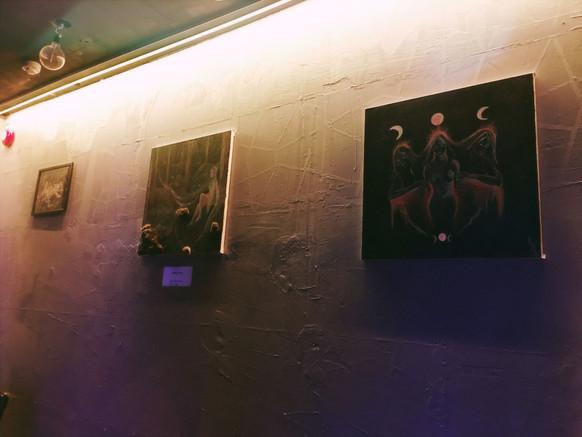 Haltija Art at Back2Mad,  21 Twenty One club,  Tampere, Finland