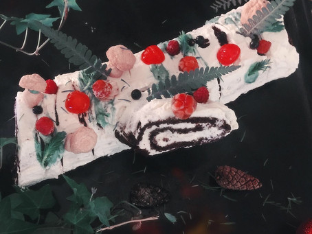 Yule Birch Log Cake