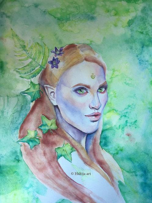 """Irish Green"", an original faerie artwork by Haltija Art"