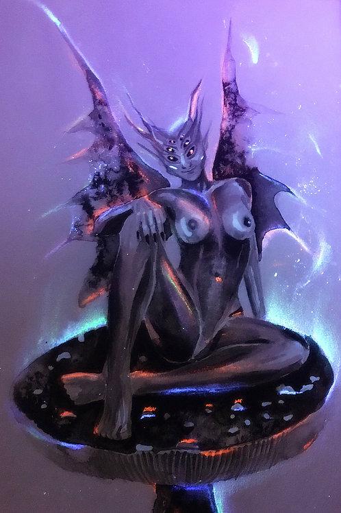 """Toadstool"", an original dark faerie artwork by Haltija Art"