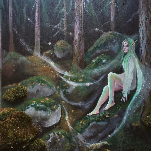 """""""Syyspäiväntasauksen salaisuus"""", an original visionary painting by Haltija Art"""
