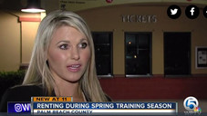 Jupiter Real Estate Expert and Top Realtor, Holly Meyer Lucas Chats With WPTV About Renting During Spring Training in Palm Beach Gardens Area.