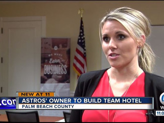 Holly Meyer Lucas Featured on WPTV - Houston Astros Purchase West Palm Beach Office Building