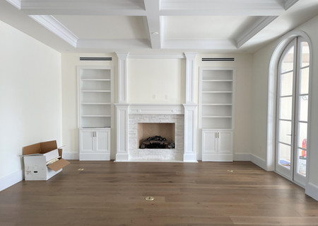 Custom Built-ins and Fireplace