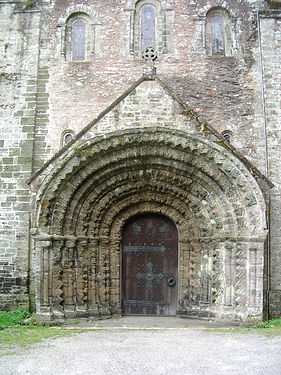 108. St Germans Church, Norman Doorway .