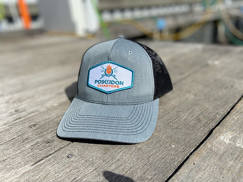 Silver / Black Diamond Patch Hat