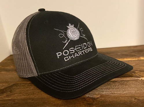 Black Hat With Silver Mesh