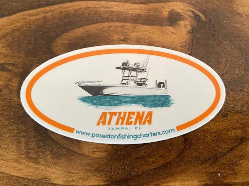 Athena Boat Sticker