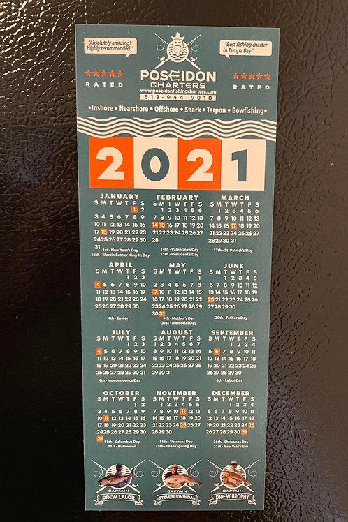 Poseidon Charters 2021 Calendar Magnet