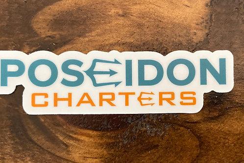 Poseidon Charters Wording Only Sticker