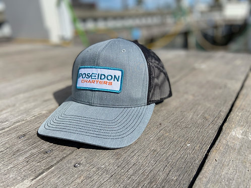 Silver / Black Rectangle Patch Hat