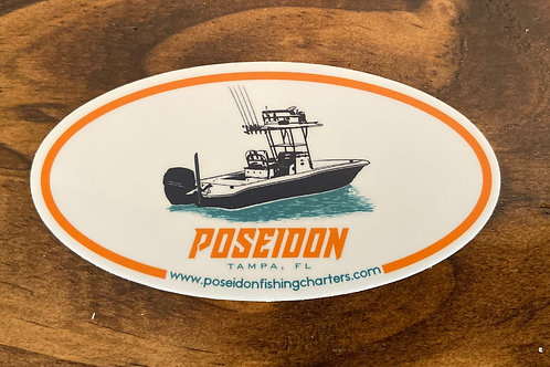 Poseidon Boat Sticker