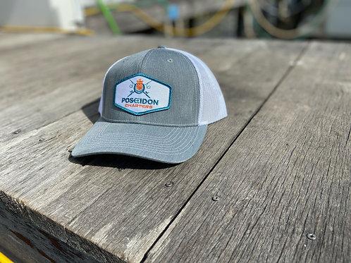 Silver / White Diamond Patch Hat