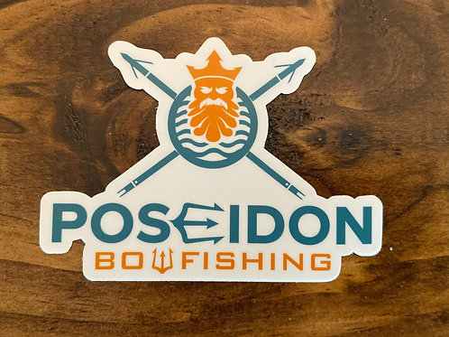 Poseidon Bowfishing Sticker