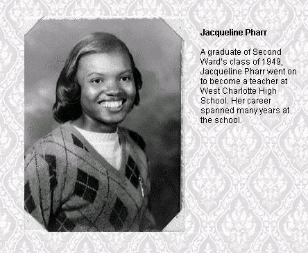 Photo of Jacqueline Pharr as a student on 1949.