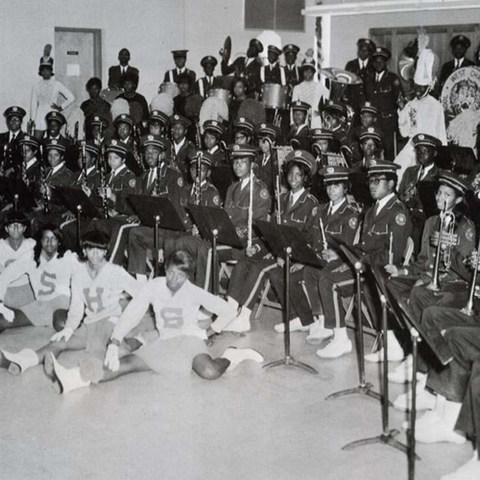 West Charlotte HS Band in 1969.