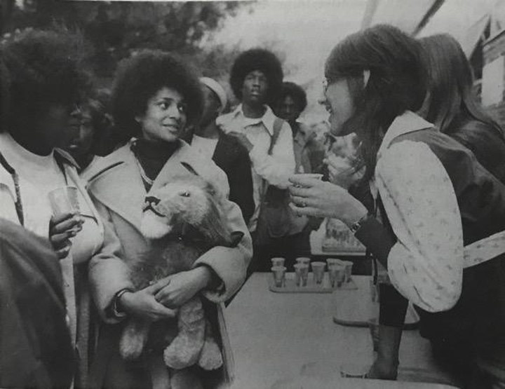 West Charlotte students meet with students from Boston in 1974.
