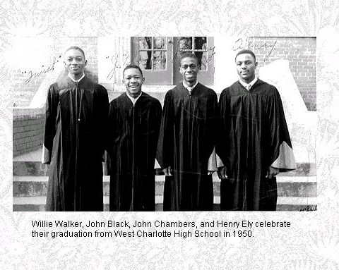 Photo of graduates from West Charlotte HS in 1950.