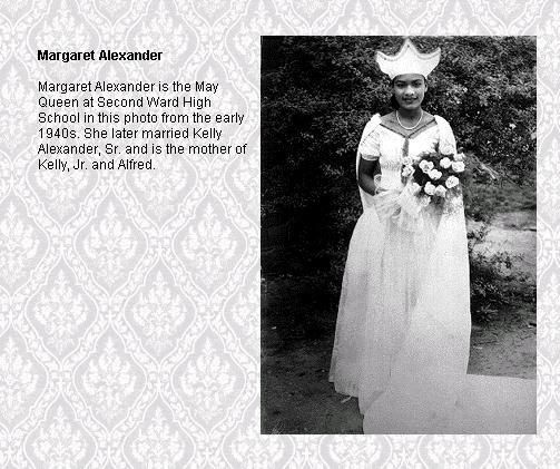 Margaret Alexander is May Queen of Second Ward HS in 1940.
