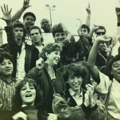 West Charlotte High School students in 1985..