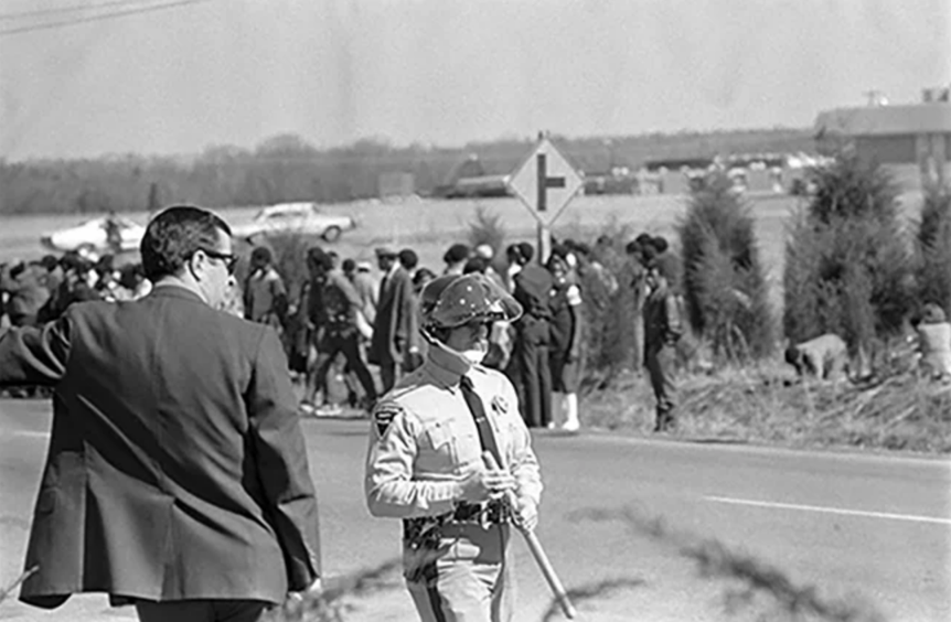 Black Students protest unequal treatment at South Mecklenburg HS in the 1970s.