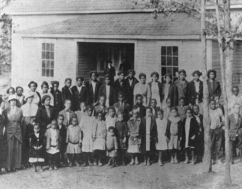 This was Smithville Rosenwald School in Charlotte in the 1920's. This school was built in the 1920's with the purpose of bringing education to black children with Martha Slowe as the school's principal.