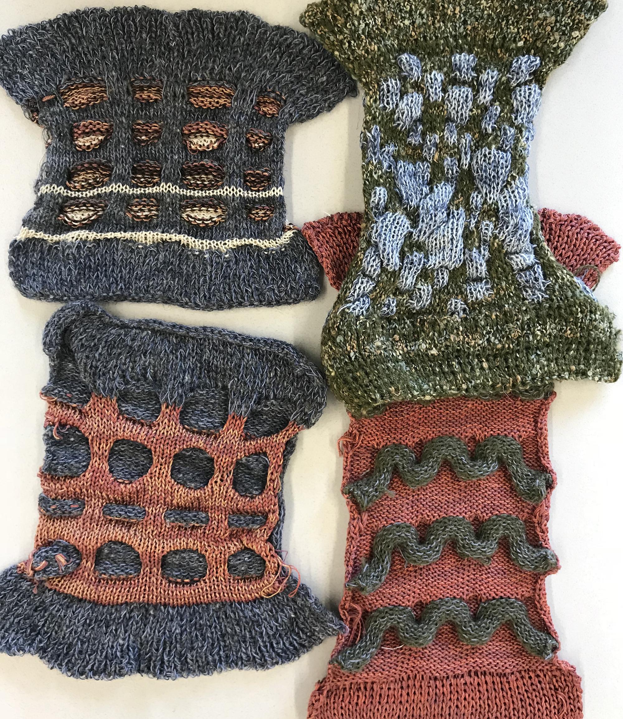 Peter Salera swatches knit on Passap