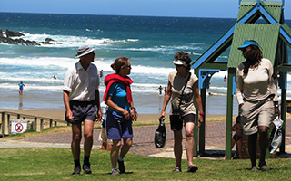 Vic Bay hikers