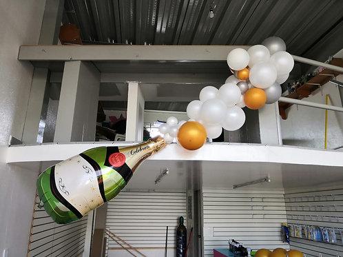 Botella Champagne Celebrate con burbujas