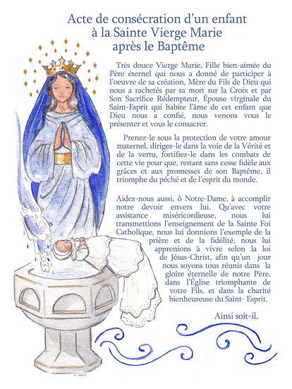 Consécrations à la Sainte Vierge