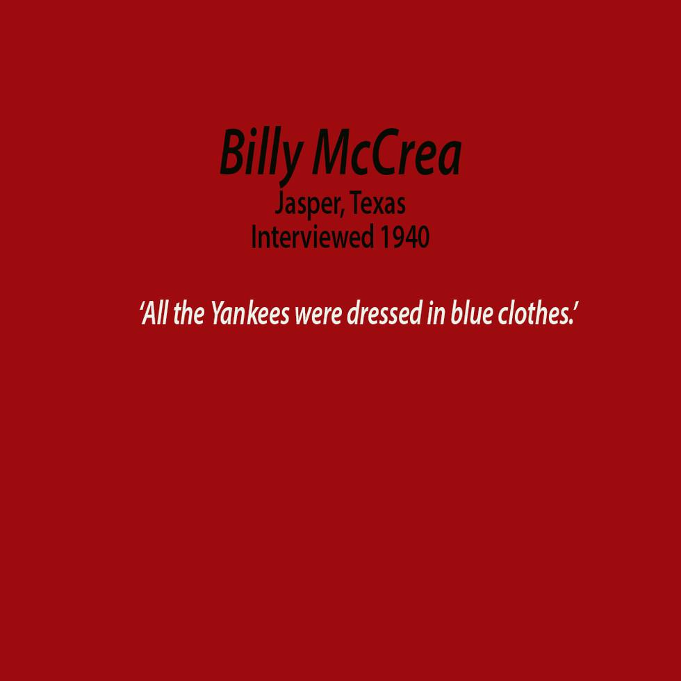 Billy McCrea