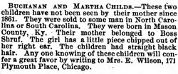 Buchanan and Martha Childs