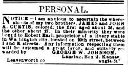 James and John A. Curtis