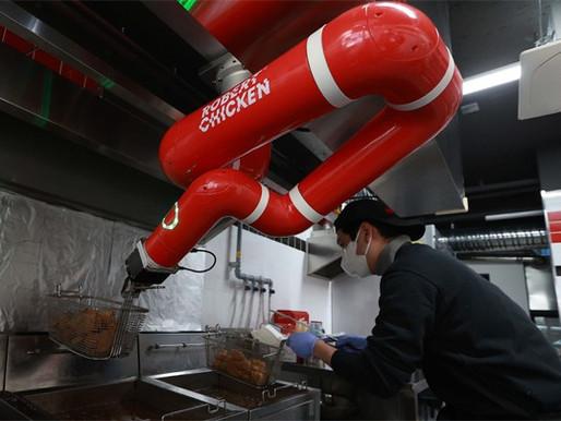 치킨집 주방까지 넘보는 로봇 ...알바 일자리부터 사라진다