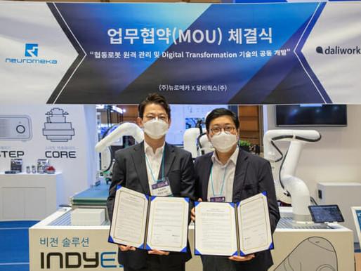 뉴로메카-달리웍스, '협동로봇 원격 관리 기술 개발' MOU
