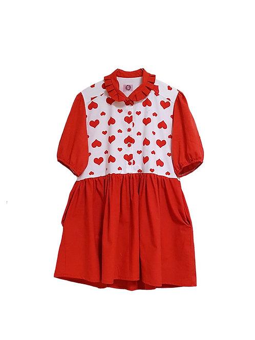 Sonja Dress Red Hearts