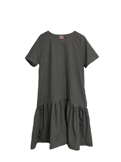 Simone Dress Black Gingham
