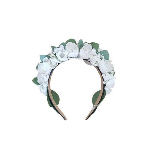 Flowercrown Dipped in White
