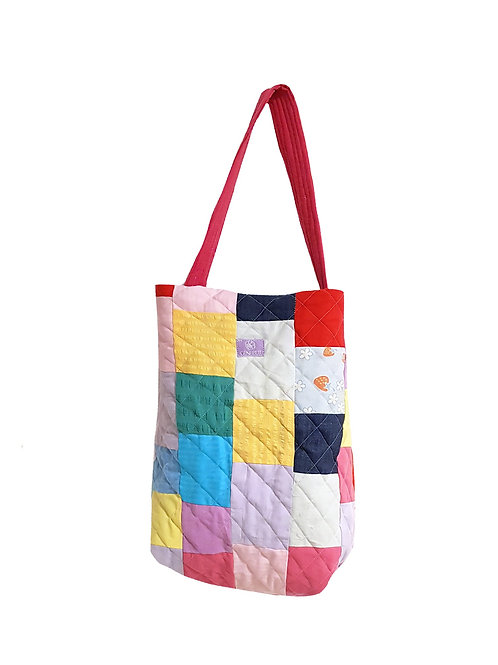 Quilted Bucket Bag Colorful
