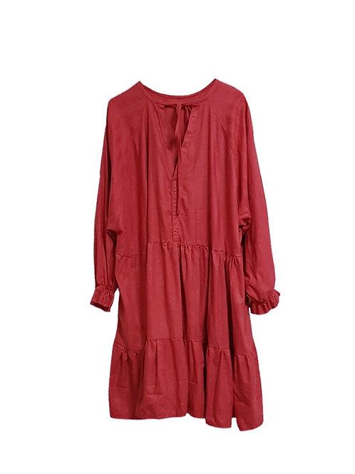 Luna Dress Coral Red