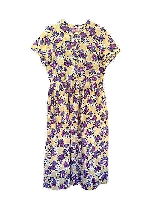 Camilla Dress Purple Flowers