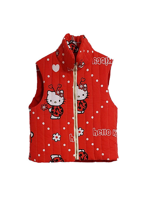 Quilted Waistcoat Hello Kitty