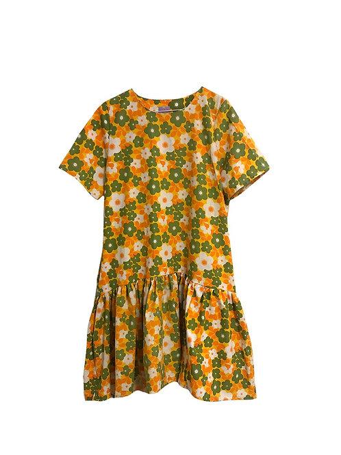 Simone Dress Retro Flowers
